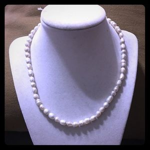 Freshwater Pearl Twist Clasp Necklace